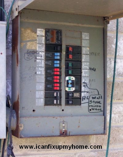 Circuit breaker box with poor circuit mapping