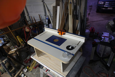 A compact router table for a small shop; photo courtesy Kelly Smith